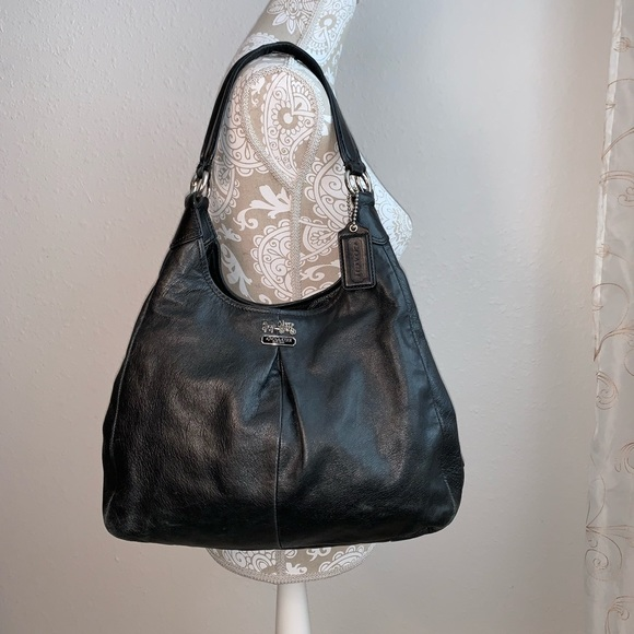 51de3ec37 Coach Bags | 21225 Madison Maggie Black Leather Bag | Poshmark